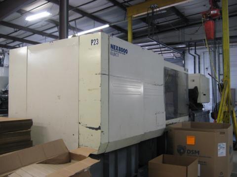 2005 500 ton Nissei, 47 oz NEX8000
