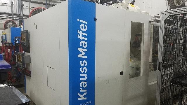 2016 850 ton Krauss-Maffei 39.54/16.76 oz 2-color