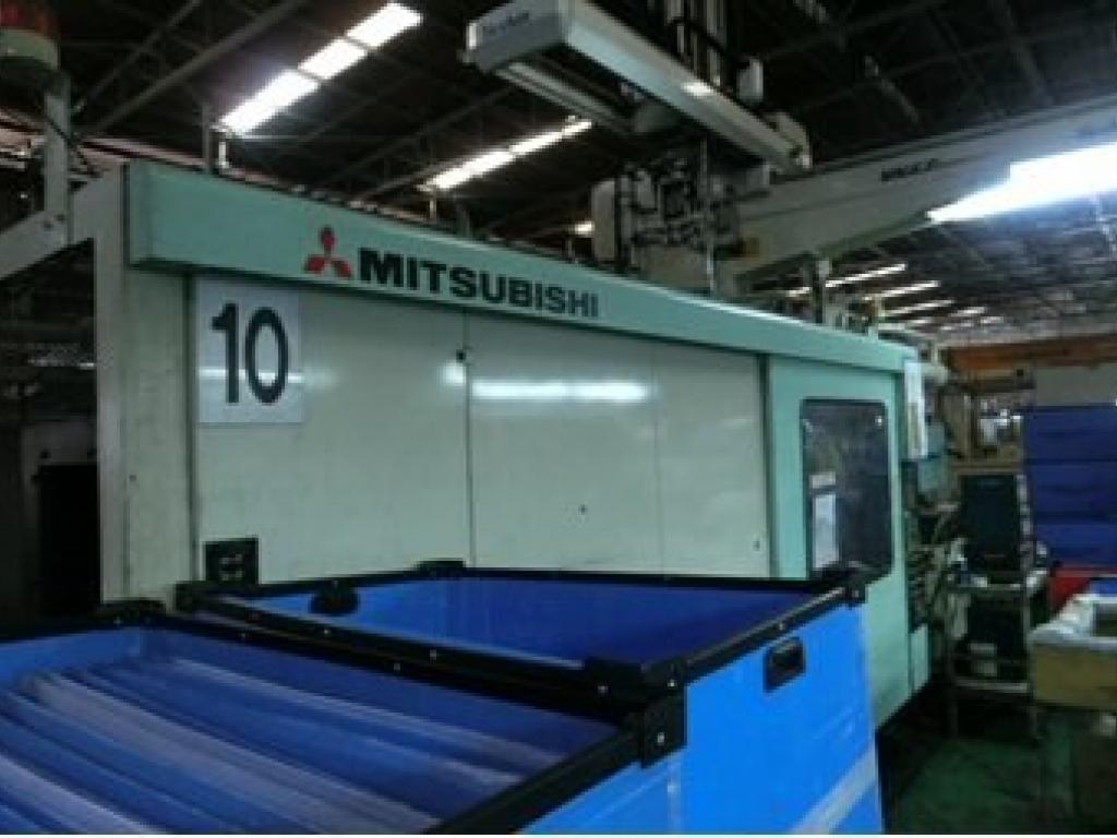 2003 850 ton Mitsubishi, 139 oz Wide Platen